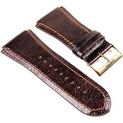 ESPRIT WATCH STRAP Replacement Band for Superior Brown Leather Dark Brown 29mm ES101231704