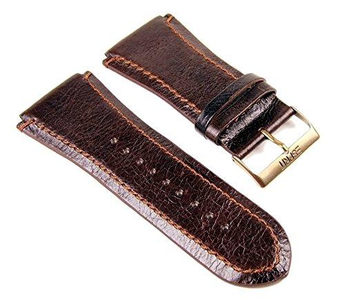 Esprit Uhrenarmband Ersatzband Lederband Dunkelbraun 29mm für Superior Brown ES101231704