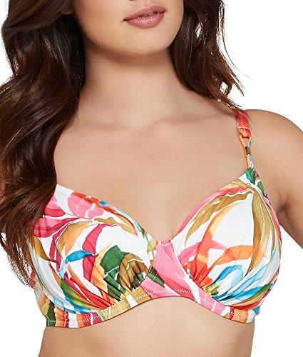 Fantasie Boca Chica U/W Gathered Full Cup Bikini Top in Tropical Print (6034) tropical print
