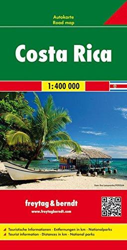 Costa Rica, mapa de carreteras. Escala 1:400.000. Freytag & Berndt.