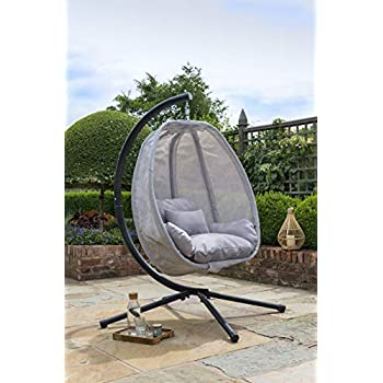 Cocoon Hanging Chair And Cushion Amazon Co Uk Garden