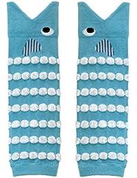 Oyedens 1 Par Algodón De Dibujos Animados Calentadores De La Pierna Calcetines Para Rodilleras Bebé Niño Calcetines Del Bebé (Azul)