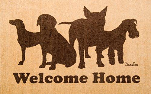 Doortex Tapis D'intérieur Design Bienvenue pour Chien, en Nylon/Vinyle, Multicolore, 60 x 100 cm