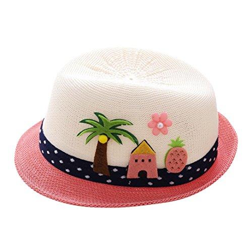 2acf6f4c56f8 Chapeau de Soleil Panamas Chapeau, Covermason Fille Garçon été Chapeau de  Soleil Anti-soleil