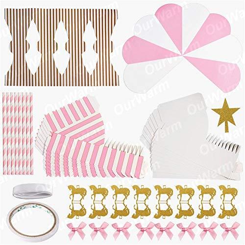 rousel Candy Boxen Party Favors for Kids Birthday Dekorationen Hochzeits-Favors and Gifts Souvenir Für Gäste rosa ()