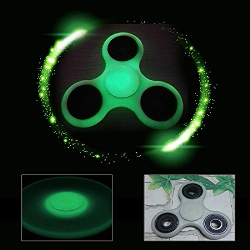 ILOVEDIY Hand Spinner Fidget Toy for Relieving Stress ADHD Kids Adults (Glow)