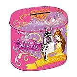 Maxi & Mini-Prinzessinnen Spardose Oval aus Metall Verschluss mit Vorhängeschloss-Idee Geschenk Disney