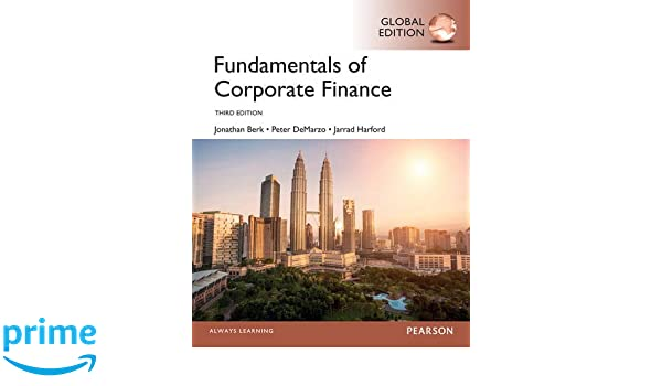 corporate finance by jonathan berk and peter demarzo 4th edition
