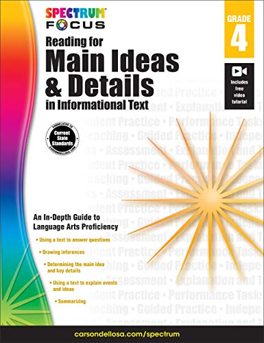 Spectrum Reading for Main Ideas and Details in Informational Text, Grade 4  (Spectrum Focus)