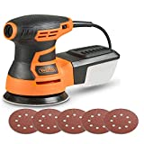 VonHaus 350W Random Orbit Sander with Soft Grip Handle, Ergonomic Design & Sanding