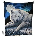 Hüterin der North–Wolf Fleece Überwurf/Kuscheldecke von Lisa Parker 160cm