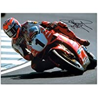 Carl Fogarty Unterzeichnete Superbikes Foto: Cornering At Brands Hatch
