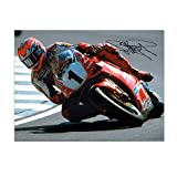 Exclusive Memorabilia Carl Fogarty Signed Superbikes Photo: Cornering At Brands Hatch
