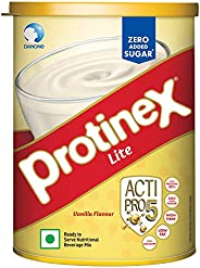 Protinex Lite Health And Nutritional Drink Mix For Adults with High protein & High Fiber, Vanilla,