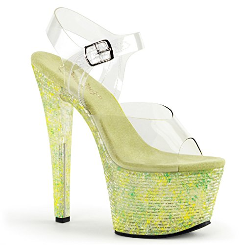 Pleaser CRYSTALIZE-308TL Clr/Lime Crystal