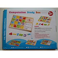 صندوق خشبي حاسوبي - لعبة تعليمية لتعليم الرياضيات الحديثة بمساعدات بصرية للأطفال من عمر 3 فأكثر