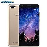 Moviles Libres, DOOGEE X20L 4G Android 7.0 Dual SIM Teléfonos Móviles - 2580mAh Batería Grande - 5.0' HD IPS - 5.0MP Cámara - MT6737 4xCortex-A53-2GB RAM+16GB ROM - Gold