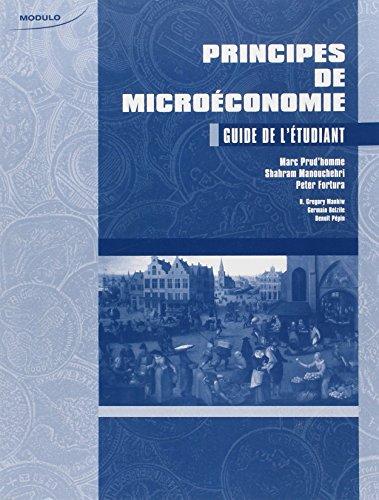 Principes de Microeconomie Guide de l Etudiant