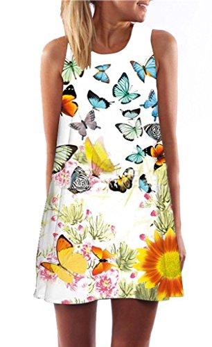 Minetom-Donna-Abito-Estivo-Vestito-Della-Gilet-Senza-Maniche-Beach-Stampato-Abito-Corto-Mini-Vintage-Boho-Fiore-Stampato-Dress