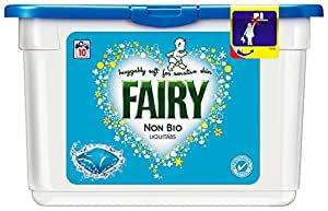 Fairy Non Bio Laundry Liquitabs for Sensitive Skin 10 Washes (Pack of 6)