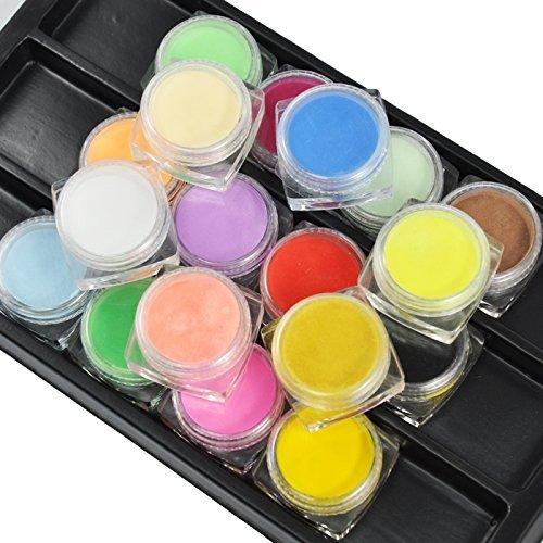 18 Farben Professional Nail Art Acryl Pulver Nail Art Paint (3 Gramm Farbe) für Nail Art Design #409