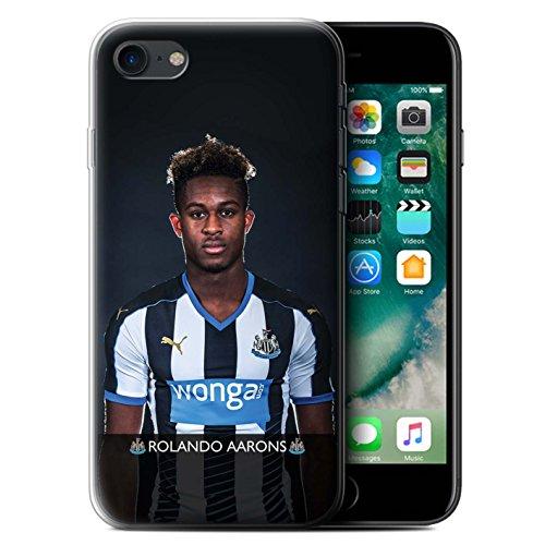 Offiziell Newcastle United FC Hülle / Gel TPU Case für Apple iPhone 7 / Wijnaldum Muster / NUFC Fussballspieler 15/16 Kollektion Aarons