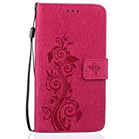 For LG Stylus 2 LS 775 Case [With Tempered Glass Screen Protector],idatog(TM) Magnetic Flip Book Style Cover Case ,High Quality Classic Elegant Couples Dandelion Pattern Design Premium PU Leather Folding Wallet Case With [Lanyard Strap] and [Credit Card S