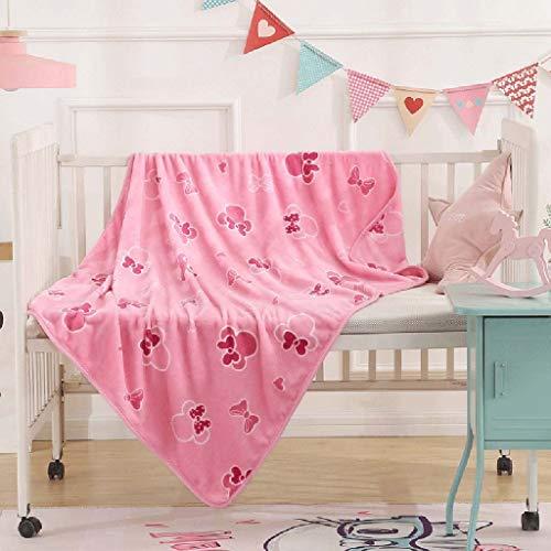 QAZX Disney Kinder Herbst-Winter-Decke Erwachsener verfügbar Büro Nap Klimaanlage Decke Flanell-Decke Coral Velvet Schal Decke (Color : D) -