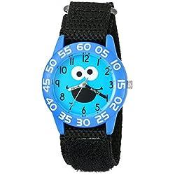 eWatchFactory Boy's 'Sesame Street' Quartz Plastic and Nylon Automatic Watch, Color:Black (Model: W003148)
