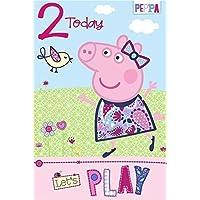 Peppa Pig Age 2 Birthday Card