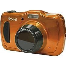 Rollei Sportsline 100 - vielseitige Digitalkamera mit 20 MP, 4-fach optischem Zoom, spritzwasserfest und wasserdicht bis zu 10 Meter mit Foto-Zeitraffer-Funktion - Orange