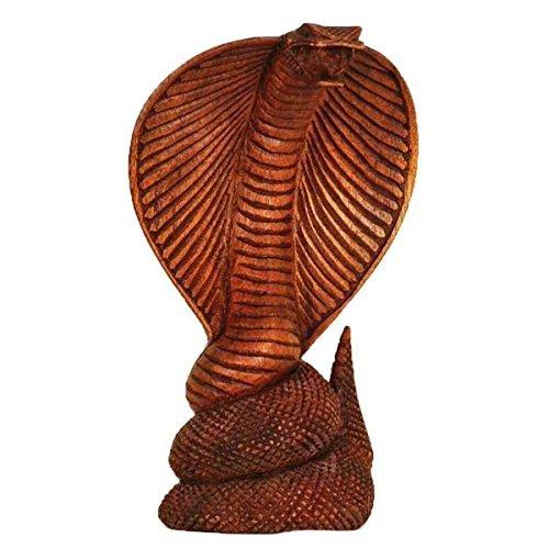 Simandra Kobra Holz Figur Skulptur Abstrakt Holzfigur Statue Afrika Asia Handarbeit Deko Cobra Größe 20 cm