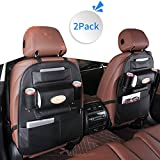 LBLA Multifarious Hanging Car Backseat Organizer PU Leather, Multi Pocket Car Storage Bag 2 Packs