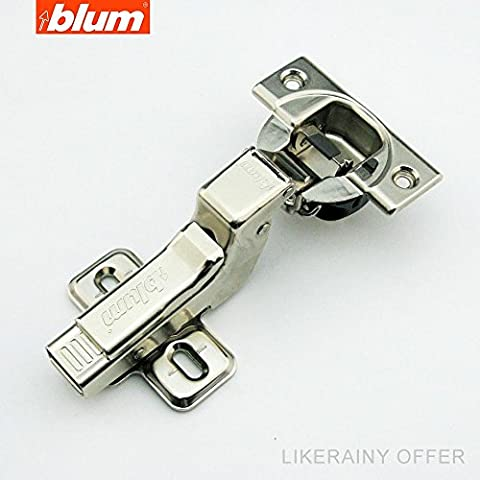 (2 Pcs) Blum Clip Top BLUMOTION 110 Degree Standard Hinge Kitchen Cabinet Cupboard Door Hinge 71MB3750, Self-close Mechanism Hinge, Inset, Fast Assembly Buffering Hinge, Made in