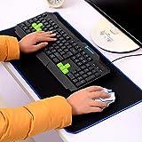 Buwico 300mx560mm Extra große Größe Gaming Laptop Pad Tastatur/Maus/Schreibunterlage/weiche Gummi unten für Computer Gaming Mauspad, blau