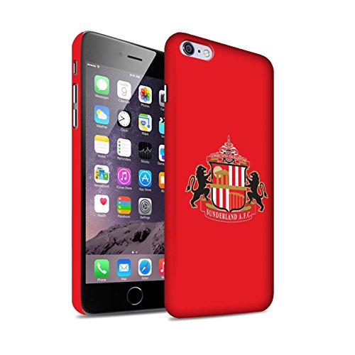 Offiziell Sunderland AFC Hülle / Matte Snap-On Case für Apple iPhone 6S+/Plus / Pack 6pcs Muster / SAFC Fußball Crest Kollektion Rot