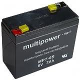 Multipower BleiSäure Akku MP7-6S, 6 Volt, 7 Ah