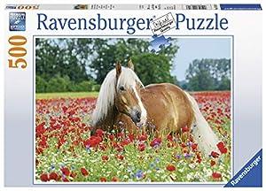 Pferd im Mohnfeld Puzzle 500 Teile