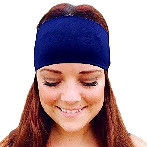 Dicomi Haarband Damen Sommer Erwachsene Strertchy Stirnband Retro Hasenohren Bogen Haarband Haarschmuck Zubehör Blau