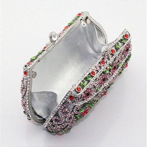 Damen-Luxus-Diamant-Tasche Abendtasche Handtasche Red