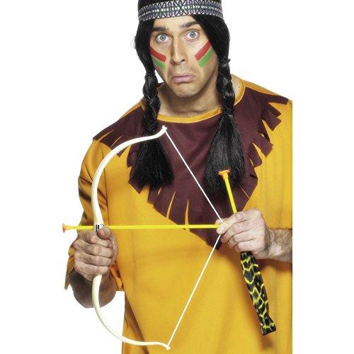 Smiffy's - Indianer Pfeil und Bogen Tomahawk Apache (Zubehör Halloween Pfeil Bogen Und)