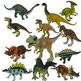Yeelan Dinosaurier Spielzeug Figuren / Statuen Set Für Jungen und Mädchen, Packung mit 12 Stück sortiert Dino