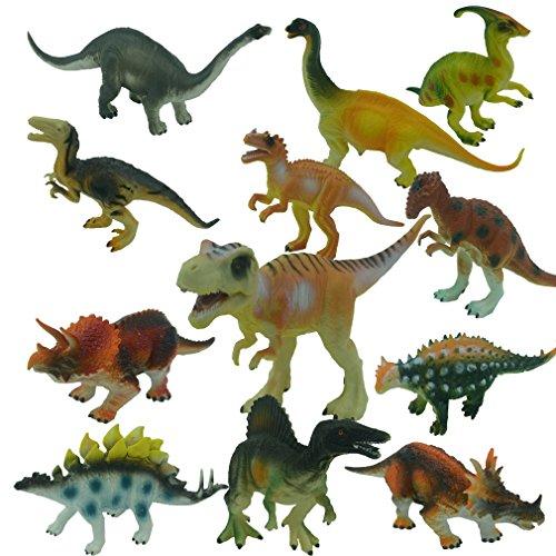 Yeelan Figuras Juguete del dinosaurio / Estatuas fijada para los varones y las muchachas, Paquete de 12 piezas Surtido de Dino