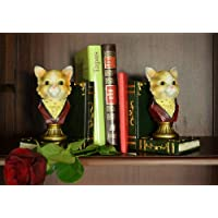Vintage Cat Bookends set supporto Book End