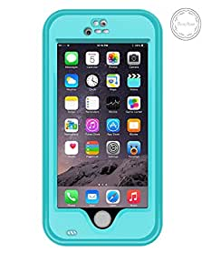 iPhone 6 Waterproof Case, Bessmate (TM) iPhone 6 Underwater Protection Cover Waterproof Shockproof SnowProof DustProof Case with Viewing Kickstand Fingerprint Recognition Touch ID for iPhone 6 4.7inch (Blue)