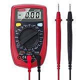 Expresstech @LCD Multímetro Digital Amperímetro Voltímetro Ohmímetro Portátil Probador para medir corriente AC DC voltaje diodos y continuidad audible