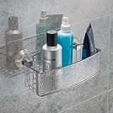 InterDesign Rain Power Lock Badezimmer-/Dusch-Caddy mit Saugnapf für Shampoo, Conditioner, Seife - Rechteckig, Durchsichtig für InterDesign Rain Power Lock Badezimmer-/Dusch-Caddy mit Saugnapf für Shampoo, Conditioner, Seife - Rechteckig, Durchsichtig