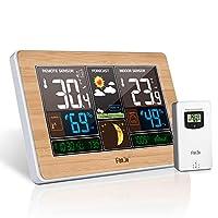 ▶Specifiche tecniche: Materiale: ABS Alimentazione elettrica dell'orologio: 2 batterie AA da 1,5 V (non incluse) o cavo di alimentazione USB DC5V Alimentazione del sensore: 2 batterie AA da 1,5 V (non incluse) Intervallo temperatura interna: -9,9 ℃ ...