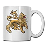 Fgrygf Tea Milk Cup, Novelty Coffee Mugs, Golden Scary Lion 11oz Ceramic s Funny Birthday Christmas and Perfect Gift