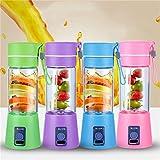 Happenwell Fruit Juicer | Plastic Portable USB Electric Blender Juice Cup - Juice Blender Smoothie Maker Fruit Juicer Bottle(Multicolour)